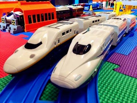【xe lửa đồ chơi 】Tomy S-04 N700 Series Shinkansen Mizuho đèn anh đào 00192 vn