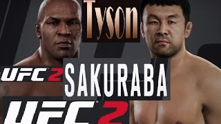 EA Sports UFC 2 Mike Tyson vs SAKURABA PS4 Gameplay FULL match (HD)