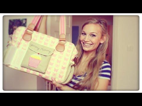 MY DIAPER BAG!   PINK CUPCAKE DIAPER BAG
