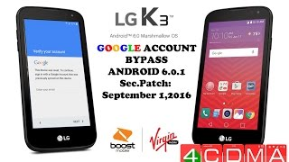 LG K3, K7, K8 Bypass Google Account FRP! Fast, No OTG, PC!!! Sec. Patch 09/01/2016