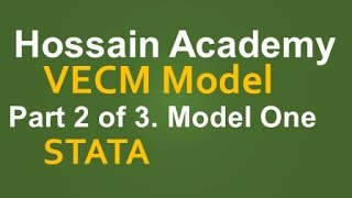 VECM. Model One. Part 2 of 3. STATA