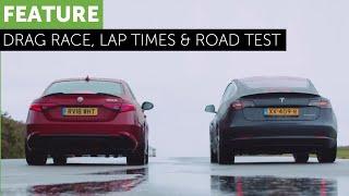 Tesla Model 3 - Alfa Romeo Giulia Quadrifoglio - Road / Track / Drag Race