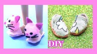 Hướng Dẫn Làm Giày Đi Trong Nhà Hình Mèo Hồng Ngộ Nghĩnh Cho Búp Bê  (Dạy làm đồ chơi trẻ)