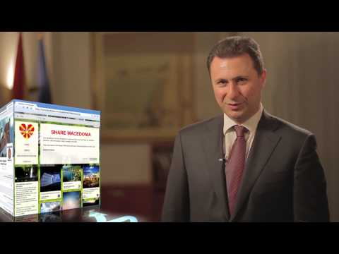 The Prime Minister of the Republic of Macedonia Nikola Gruevski speaks about the project Share Macedonia. You can help to share all the beauty of Macedonia w...