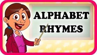 ABCD Alphabet Rhymes Lyrical Video   English Nursery Rhymes Full Lyrics For Kids & Children