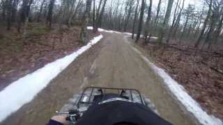 2014 Yamaha Grizzly 550 Go Pro First ride