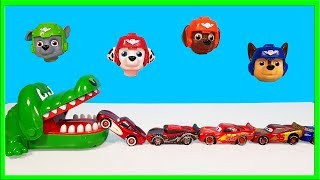 Learn Colors Crocodile Disney Cars Paw Patrol Tayo Garage