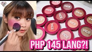 GRABE KA VICE! BAGONG BLUSH, CONTOUR, & HIGHLIGHTER NG VICE COSMETICS?! SWATCHES REVIEW