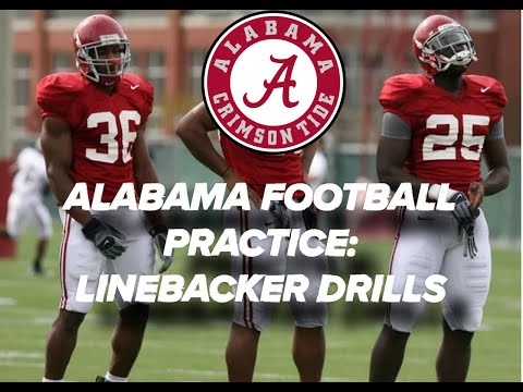 Alabama Spring Football - Linebacker Drills (Pt. 2)