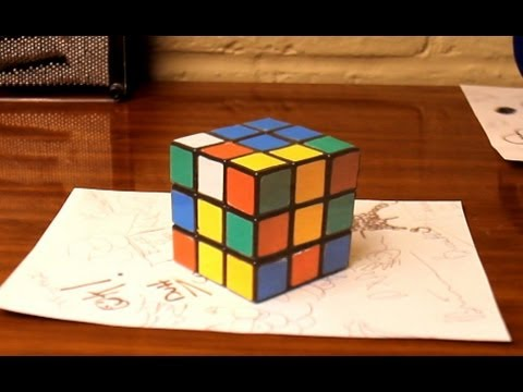 Watch Anamorphic Cube Illusion