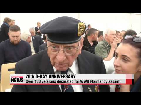 70th D Day anniversary decorates over 100 veterans
