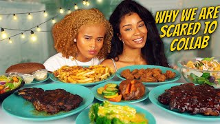 OUTBACK STEAKHOUSE MUKBANG + WHY WE ARE SCARED TO COLLAB!