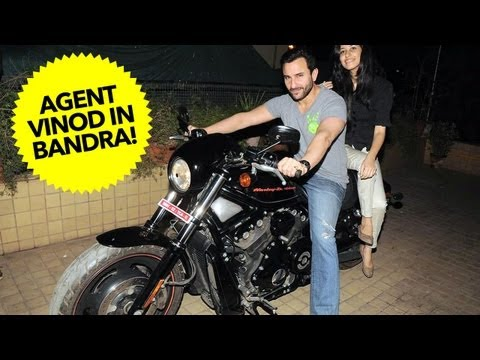 Agent Vinod On His Harley-Davidson In Bandra!