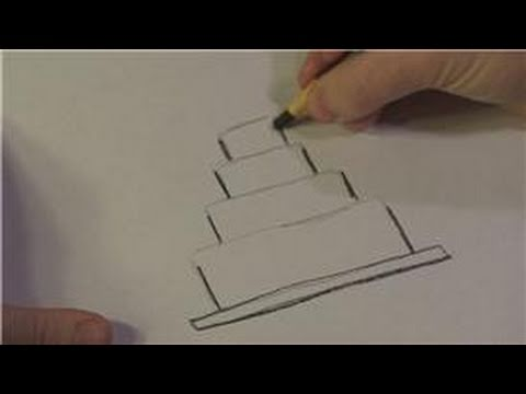 Drawing Lessons : How to Draw Wedding Cakes