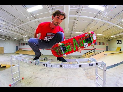 Skateboarding Obstacle Course! / Warehouse Wednesday