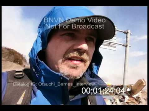 3/12/2011 Stock Footage, Brian Barnes Self Interview Clip - Day After Otsuchi Japan