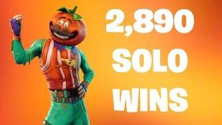 #1 Fortnite World Record 2,890 Solo Wins | Fortnite Live Stream | New Fortnite Skin