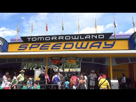 Tomorrowland Speedway FULL POV Ride at The Magic Kingdom, Walt Disney World, 1080 HD