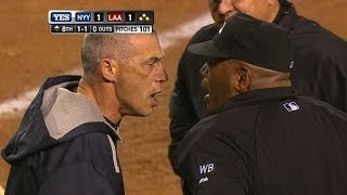 Girardi gets tossed for arguing in 8th