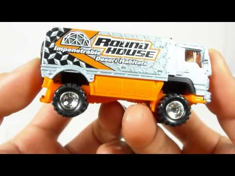 CUSTOM Quickie Car Review - Matchbox Desert Thunder V16 with REAL RIDERS