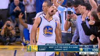 The Game Steph Curry COULDN'T MISS, NBA Record 13 Three Pointers!