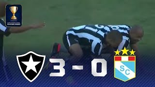 SHOW DO PANTERA! Veja os lances de Botafogo 3 x 0 Sporting Cristal
