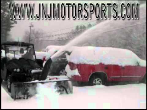 Berco UTV ATV Snowblower in action