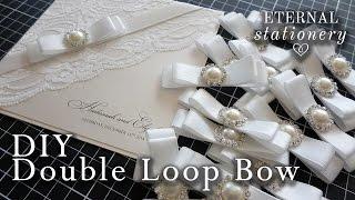 How to make a perfect satin ribbon dior bow | Wedding Invitations | DIY invitation