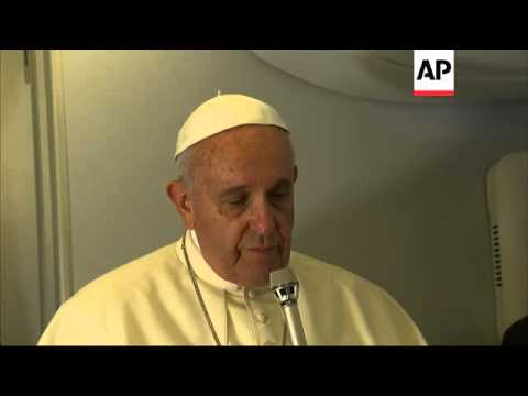Pope Francis on Wednesday said a prayer for an Associated Press video journalist and his translator