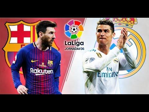 Барселона   Реал Мадрид 2 2, голы и опасные моменты, Суарес, Роналду, Месси, чемпионат Испании 36 ту