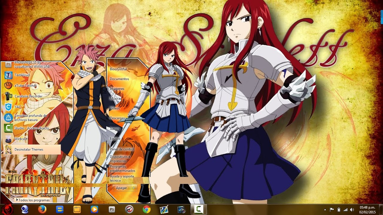 Fairy Tail Skins Windows 8 Tema Fairy Tail Para Windows 7