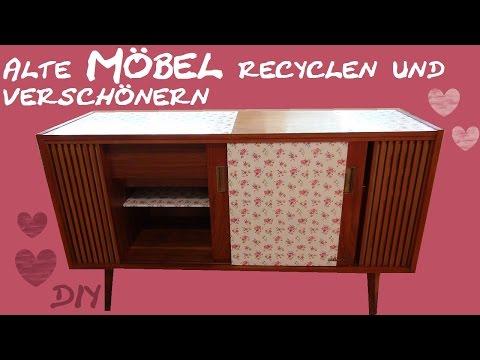 DIY Möbel - Ein Alter Schrank Bekommt Einen Neuen Look/ Zimmer Verschönern