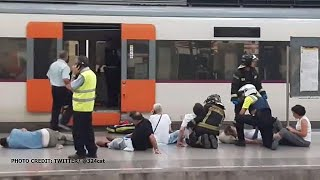 At least 48 people injured in crash at Barcelona's França train station, no deaths reported