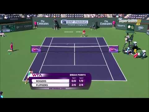HD Kirsten Flipkens vs Shelby Rogers Highlights Indian Wells 2015
