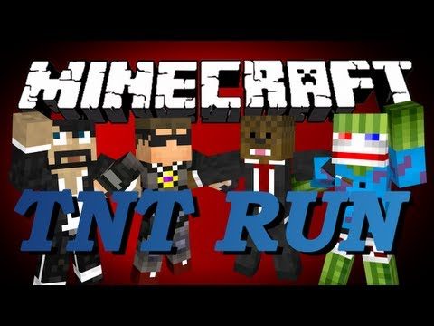 Minecraft TNT Run Minigame w/ CaptainSparklez, SkyDoesMinecraft, Bashur, and Jerome