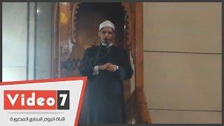"""بالفيديو..أمام مسجد النور:"""" داعش أستندت فى حرق الطيار الإردانى الى كتب التطرف"""""""