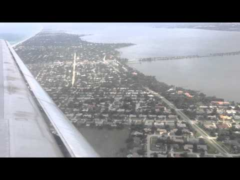 Beachside Approach and Landing in Melbourne, FL [KMLB]