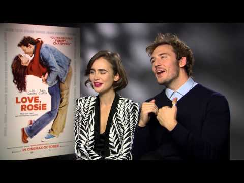 Lily Collins and Sam Claflin play the dating game