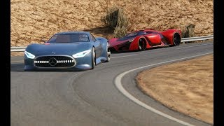 Battle Ferrari F80 Concept vs Mercedes-Benz Vision GT at Black Cat Country