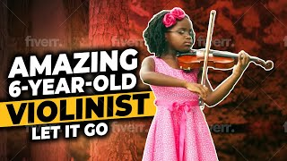 """Amazing 6-Year-Old Violinist Plays """"Let It Go"""" From Disney's Frozen"""