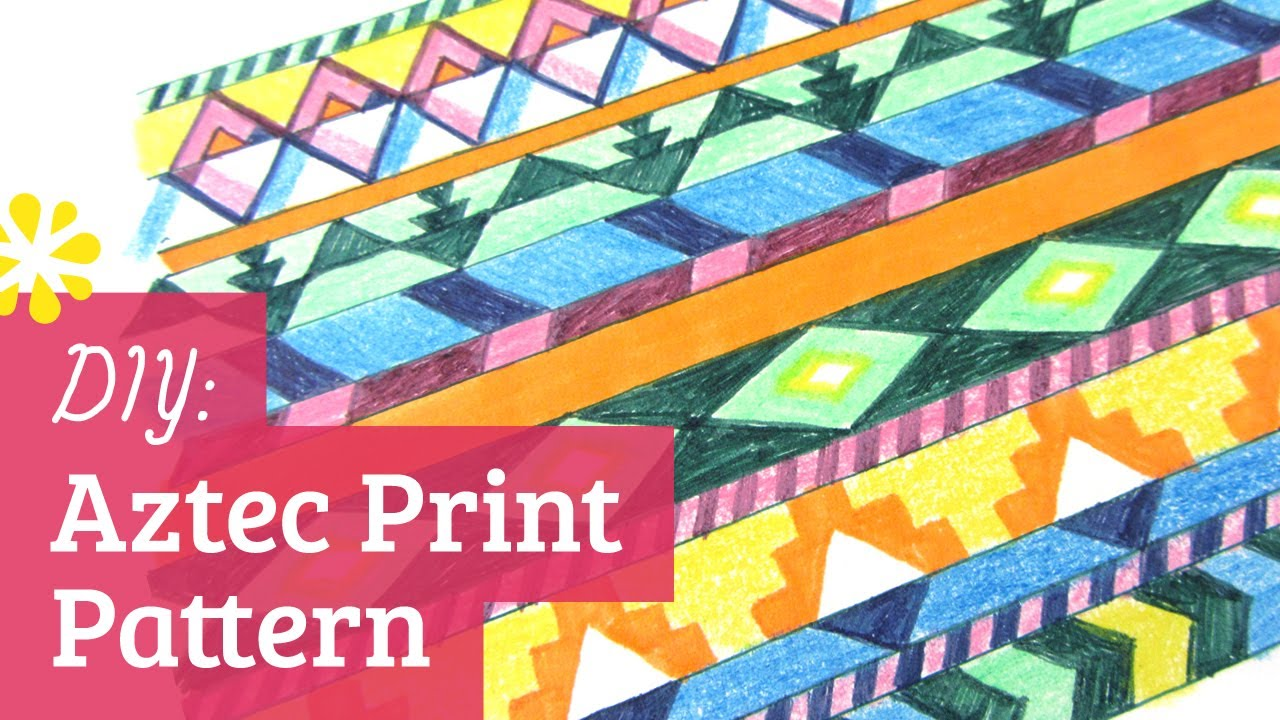 Easy Aztec Pattern Drawings Make Aztec Print Pattern