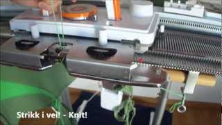 Strikke med to farger, hullkort - Knitting with two colors, punch card / Norsy/Silver Reed SK280