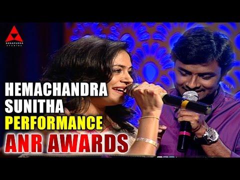 Hemachandra and Sunitha Live Performance at ANR Awards Photo Image Pic