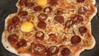 Sausage and Egg Pizza
