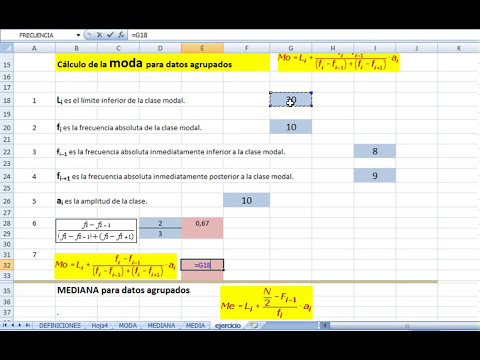 CCALCULO DE MEDIDAS DE TENDENCIA CENTRAL PARA DATOS AGRUPADOS PARTE 1