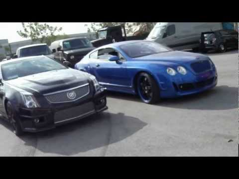 Visiting West Coast Customs - Monster Bentley, Vette.I.Am, Ryan s Dodge Charger & More