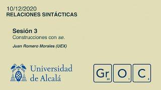 Jornadas GrOC de actualización gramatical - Sesión 3 (10 dic)