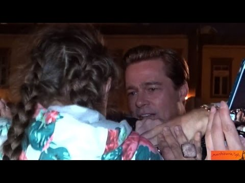 Watch Brad Pitt Rescue Little Girl Being Trampled By Massive Crowd