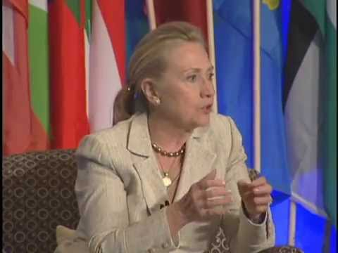 Hillary Clinton and Madeleine Albright Speak at the Women in Public Service Institute
