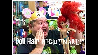 What I Used To Fix My 17inch Disney Store Ariel Dolls Hair Nightmare✨